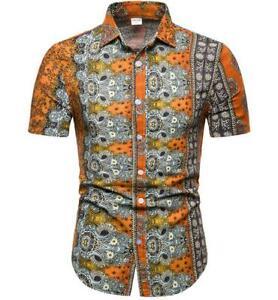 Shirts-Tops-Blouse-Cotton-Summer-T-Shirt-printing-Men-Short-Sleeve