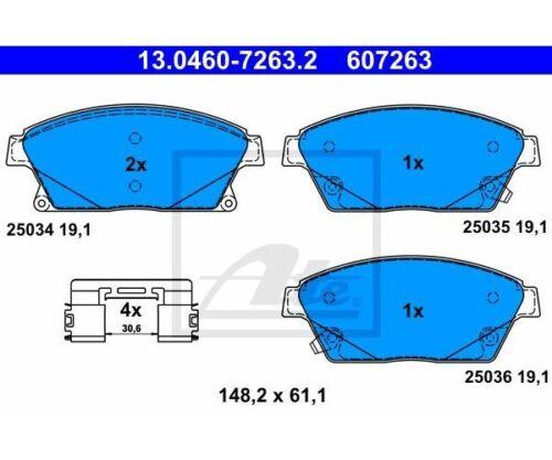 ATE 13.0460-7263.2 Pinza Freno Set Freno a disco per Opel Astra J Zafira C