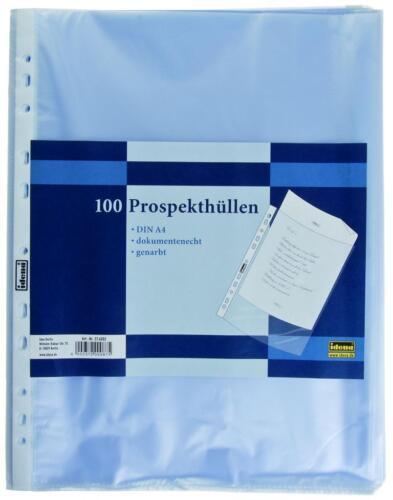Prospekthüllen 5x 100 500 IDENA DIN A4 Klarsichthüllen