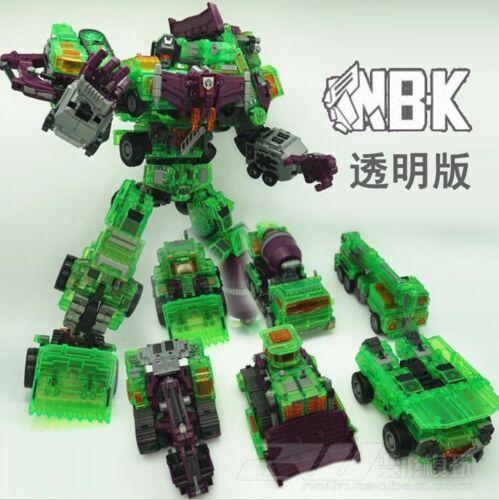 NBK Clear Devastator Transformation Toy Oversize Action Figure Transparent Ver.