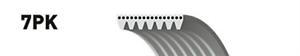 V-Ribbed Belt 7PK1148 Fan RENAULT MASTER II Bus 2.5 dCi 120 Al