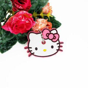789818421 Hello Kitty Pink Soft Rubber Key Cap Cover Cute Cartoon Keychain Key ...
