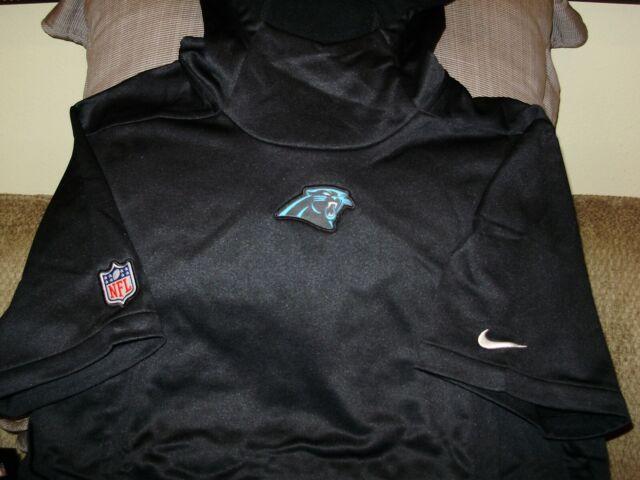 9fac72f99d747 NFL Carolina Panthers NIKE Therma-Fit Black Pullover Hoodie Top Jacket Men  Large