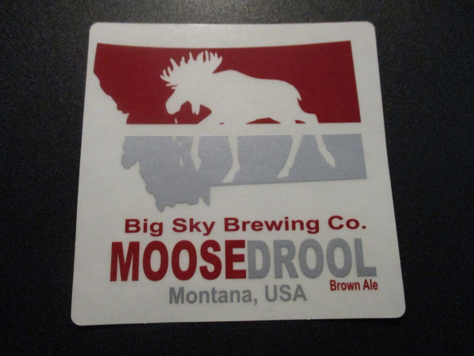 BIG SKY BREWING CO Moose Drool hold Montana blu STICKER decal craft beer brewery