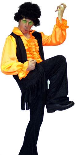 Men/'s anni/'60 70s 80s Jimi Hendrix-Rocker Costume Tutte le taglie SML-XXXXL