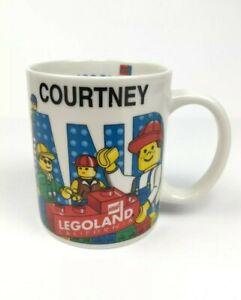 """Legoland California Personalized """"Courtney"""" Mug Cup Lego Blocks Figures"""