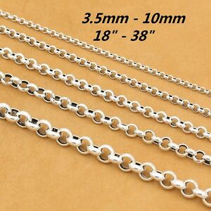 925-Sterling-Silver-Rolo-Rollo-Chain-Necklace-Belcher-Chain-4mm-5mm-6mm-8mm-10mm