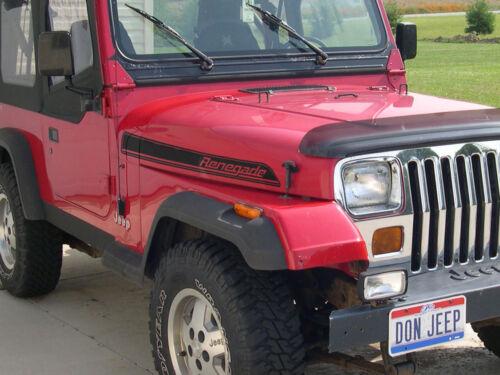 TJ Jeep Renegade Hood Side Stripes graphics Decals Kit CJ YJ sticker