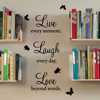 Live Laugh Love Wall Quote Stickers Wall Decals Wall Art decorations Letter 443