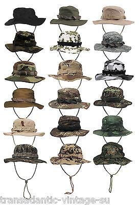 Classico Esercito Americano Gi Style Incrementa Il Traffico. Giungla Cappello Cotone Ripstop Combat Bush Sole Cappello-mostra Il Titolo Originale