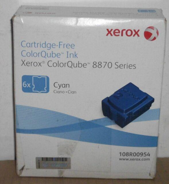 Xerox 108R00954 Cartridge Free Ink cyan für Color Qube 8870 8880 Serie  3 Sticks