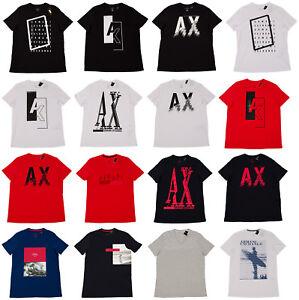 ARMANI-EXCHANGE-MEN-039-S-SLIM-FIT-S-M-L-XL-XXL-TEE-T-SHIRTS-AX-SURF-RED