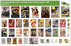 DioDump-DD078-C-German-political-amp-commercial-media-posters-ww2-1-35-diorama