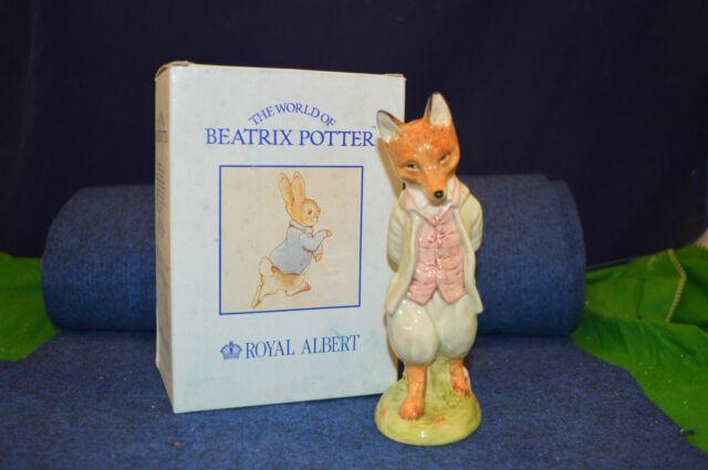 Large Royal Albert Beatrix Potter Foxy Whiskered Gentleman Figurine RD4877