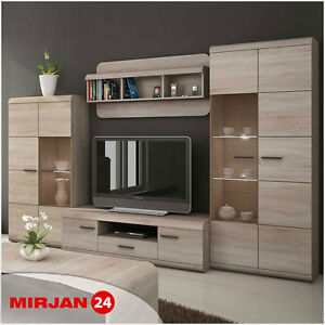 wohnzimmer set torran ii wohnwand m bel sonoma 4 teilige. Black Bedroom Furniture Sets. Home Design Ideas