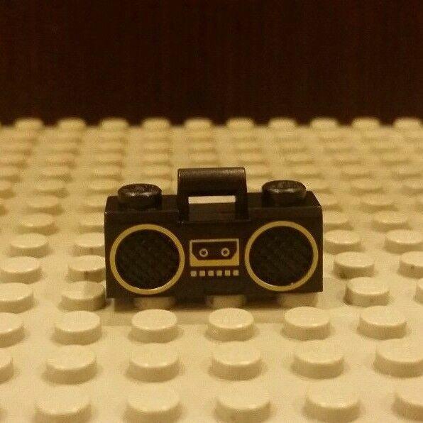 Lego Minifig Utensil Radio x 10 Black for Minifigure