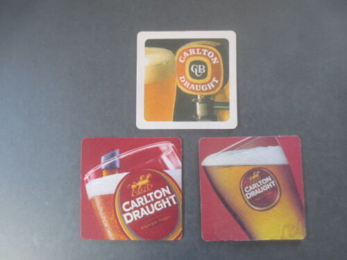 3 Different CARLTON DRAUGHT special issue COASTERS 3 WISE MONKEYS Bar