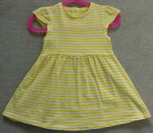 62757843363 Details about MOTHERCARE BABY GIRL SHORT SLEEVED DRESS YELLOW & WHITE  STRIPES 9 12 MONTHS