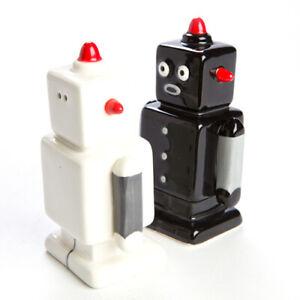 Magnetic-Retro-Robot-Salt-amp-Pepper-Shakers-Cute-Ceramic-Gift