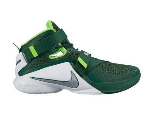Nike Lebron Soldier IX TB Green Metallic Men 749498 Basketball Shoes Sneakers 18