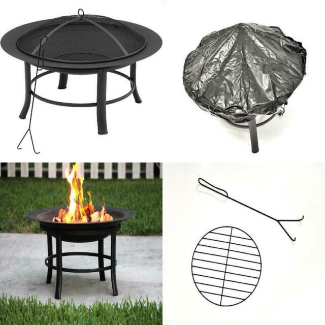Bronze Fire Pit Backyard Outdoor Fireplace Screen Cover Spark Guard Wood Burning For Sale Online Ebay