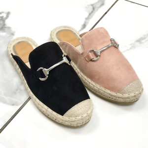 8c78b7abdff Women Espadrille Close toe Sandal Slip On Loafer Mules Flat Slipper ...