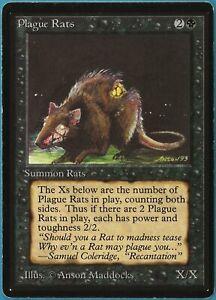 Plague Rats Beta PLD Black Common MAGIC THE GATHERING CARD (ID# 206237) ABUGames