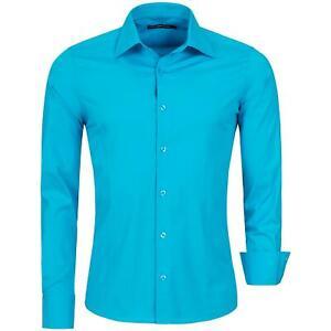 Redbridge Herren Hemd Hemden Freizeithemd Slim-Fit Langarm Sommerhemd Tailliert