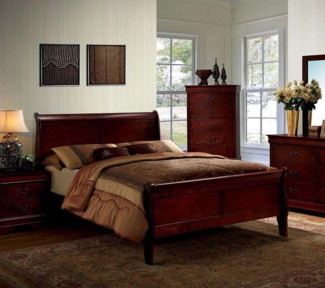 Bedroom Furniture Sales Online: 1pc Full Size Master Bedroom Furniture Set Solid Wood
