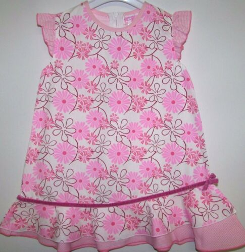 18-23 mois Baby Girls Dress New With Tags DIZZY DAISY en Coton Rose 6-12 12-18