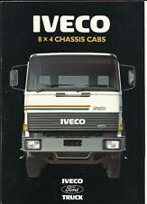 FORD IVECO 8 X 4 CHASSIS CAB LORRY TRUCKS SALES BROCHURE 1987