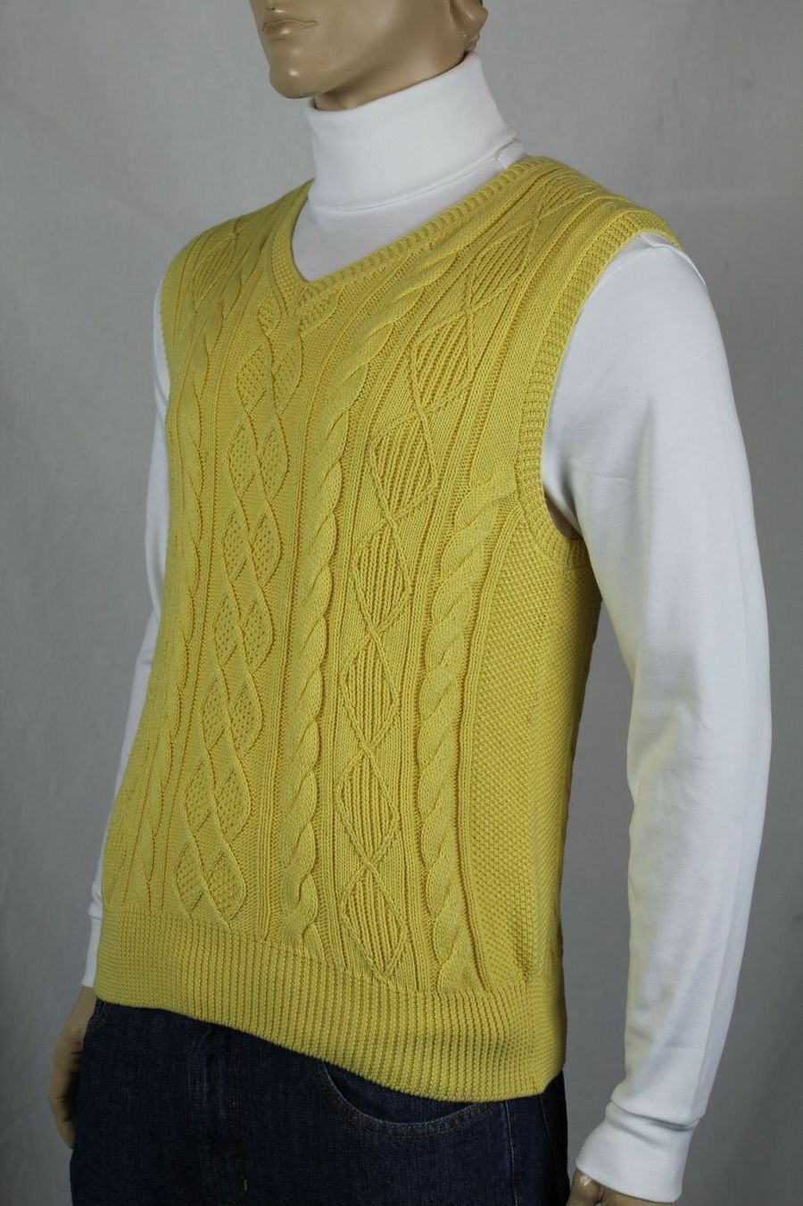 Ralph Lauren Gelb Cashmere Cable Knit Sweater Vest NWT 145