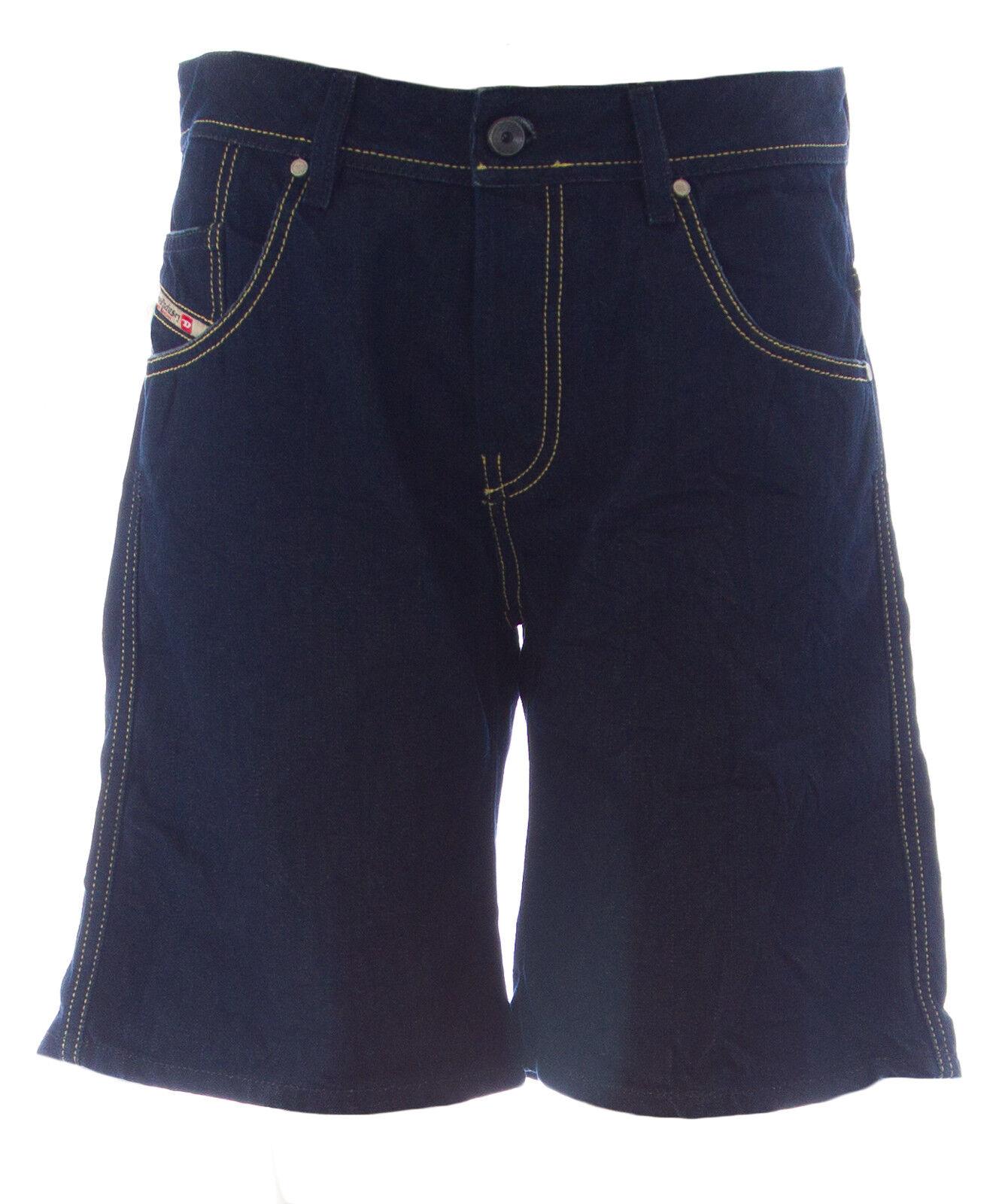 DIESEL Women's Dark Wash X-Slator Knee-Length Denim Shorts C78H NEW