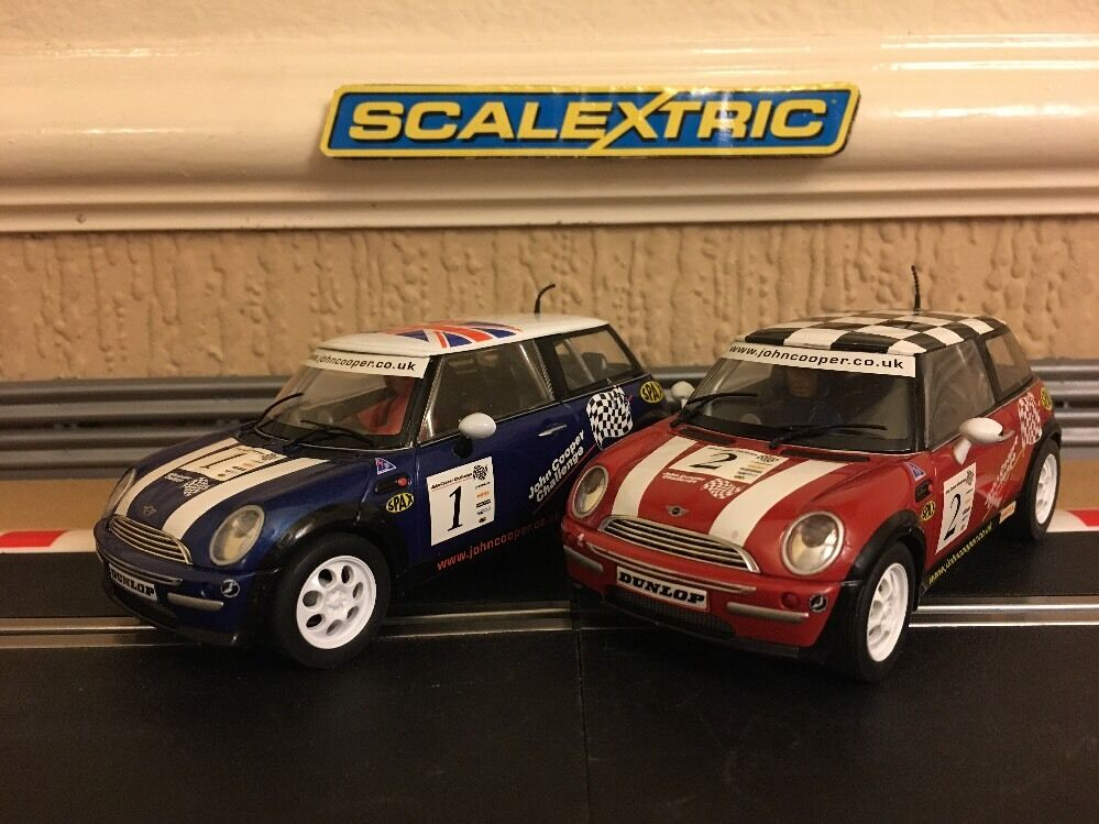 Scalextric John Cooper Challenge Minis No1 & No2 Great Condition