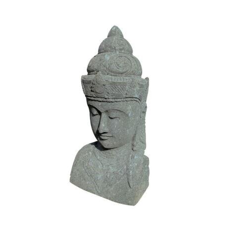 Aus-62 Buddha Figur Tempelwächter Buddha stein Budha Steinfigur Budda 60 cm