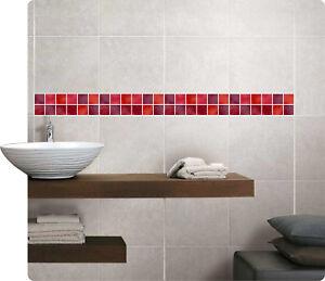 mosaik bord re rot fliesenaufkleber fliesenbild fliesen aufkleber fliesenimitat ebay