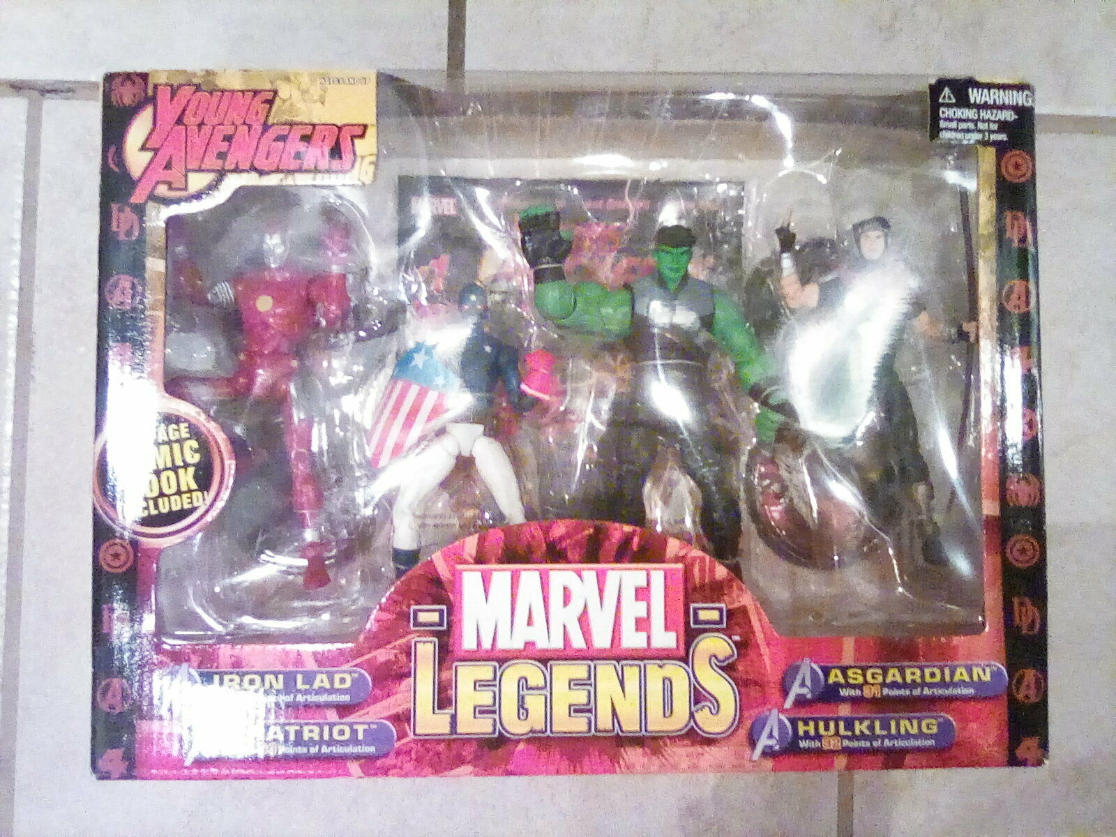 Marvel Young Avengers azione cifras Wiccan Hulre Patriot Iron Lad Billy Teddy