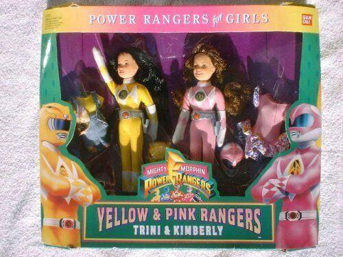Mighty Morphin Power Rangers 1994 Yellow and Pink rangers Trini & Kimberly    17