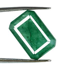 Emerald Colombian Gemstone 6-8 Ct Natural Emerald Cut Certified Discount Offer