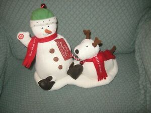 2004-Hallmark-Jingle-Pals-Oh-What-Fun-Snowman-And-Dog-Excellent-With-Tag