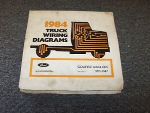 details about 1984 ford f250 f350 f500 f600 f750 f series electrical wiring  diagram manual