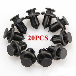 20x-reten-de-plastico-a-presion-remache-sujetador-Parachoques-Recortar-Clips-10mm-Para-Honda-Civic