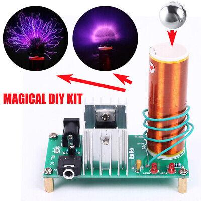 1 Satz Mini Tesla Spule Musik Lautsprecher Transformator 15-24V 15W DE