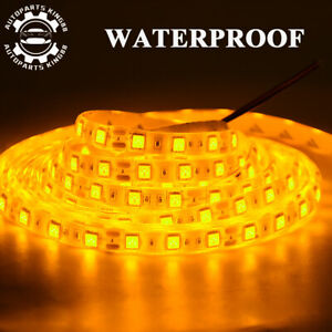 Waterproof-Amber-Yellow-5M-5050-SMD-300-LED-Flexible-Strip-Light-Tape-Decor-12V