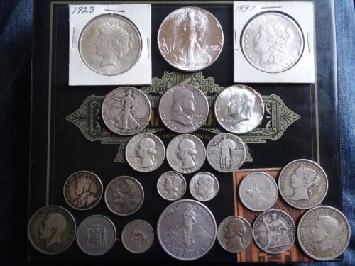Extra HUGE Collection of Morgan Peace ASE Dollar Coin LOT w// Atleast 5 Silver
