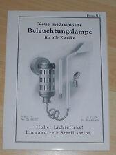 prospekt heft medizin apparate beleuchtungs lampen drgm georg wolf berlin 30er