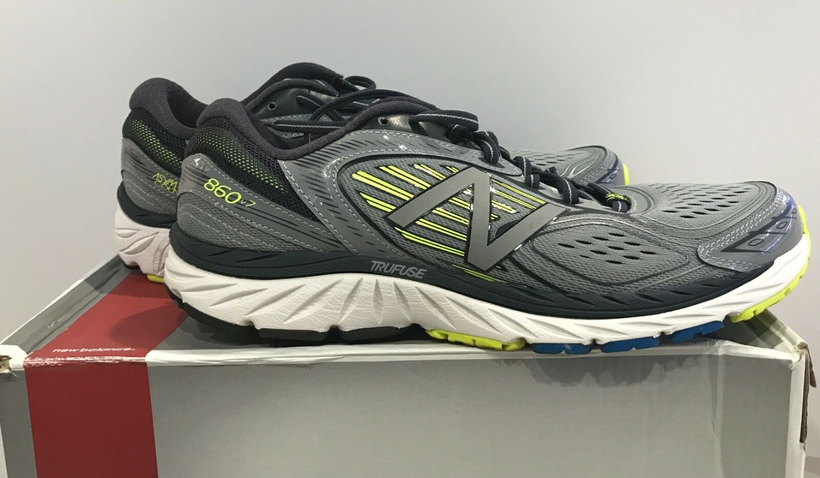 New Balance hommes 860v7 Running Chaussures , Gris /Yellow ,10 D US, M860GY7 OTHER