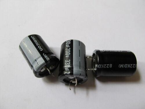 3pcs Radial Electrolytic Capacitor 330uF 200V 85°C Pitch 10mm 22x33mm Jamicon