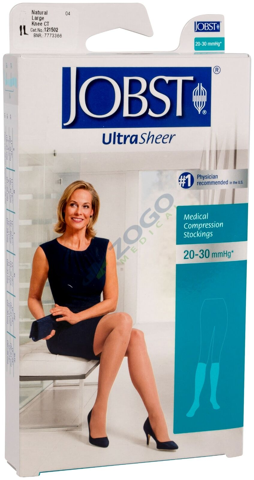 f72be7a433 JOBST Ultrasheer 20-30 mmHg Knee High Closed Toe Small Natural 121500 for  sale online | eBay