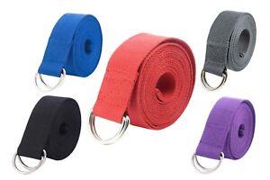 Gelante-Fitness-Exercise-Yoga-Strap-Durable-Cotton-10-Feet-Long-Metal-D-Ring